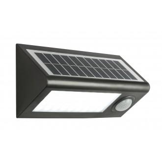GLOBO 3727S | Solar-G Globo reflektor svjetiljka sa senzorom solarna baterija 36x LED 320lm 6500K IP65 antracit