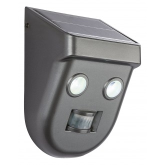 GLOBO 3728S | Solar-G Globo reflektor svjetiljka sa senzorom solarna baterija 2x LED 192lm 6500K IP65 antracit