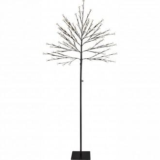 GLOBO 39129 | Viridis-I Globo podna svjetiljka 180cm 200x LED 300lm 3000K IP44 crno, bijelo