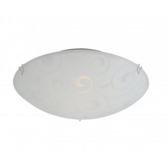 GLOBO 40400-1 | Bike Globo stropne svjetiljke svjetiljka 1x E27 poniklano mat, bijelo, prozirna