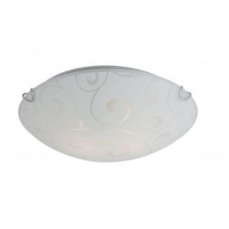GLOBO 40400-2 | Bike Globo stropne svjetiljke svjetiljka 2x E27 poniklano mat, bijelo, prozirna