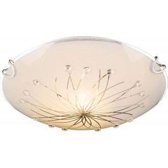 GLOBO 40402-1 | Calimero-I Globo stropne svjetiljke svjetiljka 1x E27 krom, bijelo, prozirno