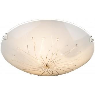 GLOBO 40402-3 | Calimero-I Globo stropne svjetiljke svjetiljka 3x E27 krom, bijelo, prozirno