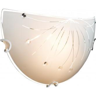 GLOBO 40402W | Calimero-I Globo zidna svjetiljka 1x E27 krom, bijelo, prozirno
