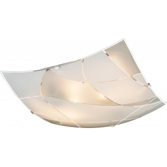 GLOBO 40403-2   Paranja Globo zidna svjetiljka 2x E27 krom, bijelo, prozirno