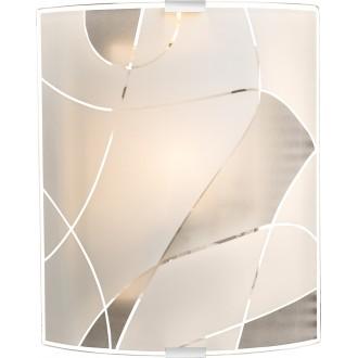 GLOBO 40403W2   Paranja Globo zidna svjetiljka 1x E27 krom, bijelo, prozirno