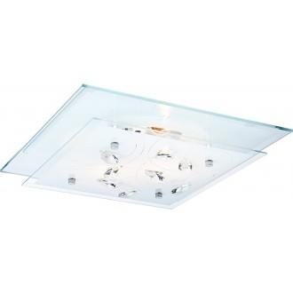 GLOBO 40408-2 | Jasmina Globo stropne svjetiljke svjetiljka 2x E27 krom, zrcalo, opal