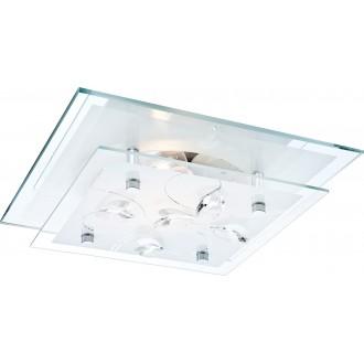 GLOBO 40408 | Jasmina Globo stropne svjetiljke svjetiljka 1x E27 krom, zrcalo, opal