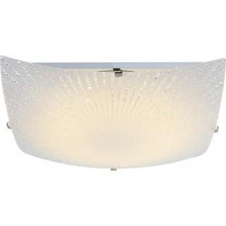 GLOBO 40449 | Vanilla Globo stropne svjetiljke svjetiljka 1x LED 1200lm 3500K poniklano mat, bijelo, prozirno