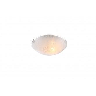 GLOBO 40463-1 | Tornado Globo zidna, stropne svjetiljke svjetiljka 1x E27 krom, bijelo, prozirna
