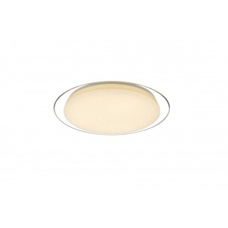 GLOBO 41310-30 | Optima Globo stropne svjetiljke svjetiljka daljinski upravljač jačina svjetlosti se može podešavati, sa podešavanjem temperature boje 1x LED 3800lm 3000 - 4000 - 6500K bijelo, prozirno, svjetlucavi