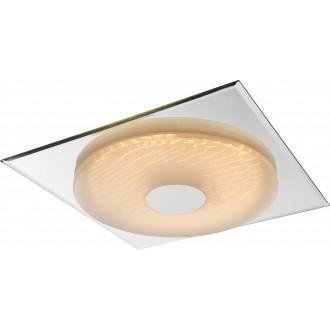 GLOBO 41334 | Treviso-I Globo stropne svjetiljke svjetiljka daljinski upravljač jačina svjetlosti se može podešavati, sa podešavanjem temperature boje 1x LED 2000lm 3000 <-> 6400K zrcalo, bijelo, 3D effect