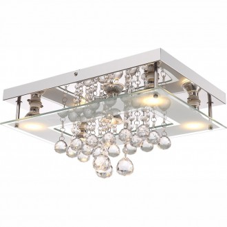 GLOBO 41728-5 | St-Tropez Globo stropne svjetiljke svjetiljka 5x GU10 2000lm 3000K krom, bijelo, prozirno