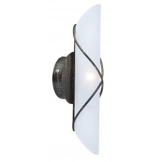 GLOBO 44137-1 | Rania Globo zidna svjetiljka 1x E14 crno, antik zlato, opal
