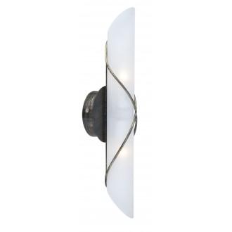 GLOBO 44137-2 | Rania Globo zidna svjetiljka 2x E14 antik crno, opal