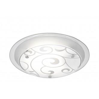 GLOBO 48060 | Kristjana Globo stropne svjetiljke svjetiljka 1x E27 krom, bijelo, zrcalo