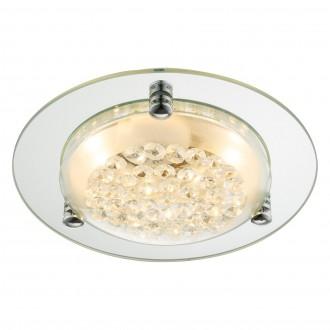 GLOBO 48246 | Froo Globo stropne svjetiljke svjetiljka 1x LED 700lm 4000K krom, zrcalo, prozirno