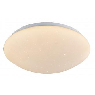 GLOBO 48363RGB | Atreju-I Globo stropne svjetiljke svjetiljka daljinski upravljač jačina svjetlosti se može podešavati, promjenjive boje 1x LED 960lm 3000K bijelo, opal, svjetlucavi