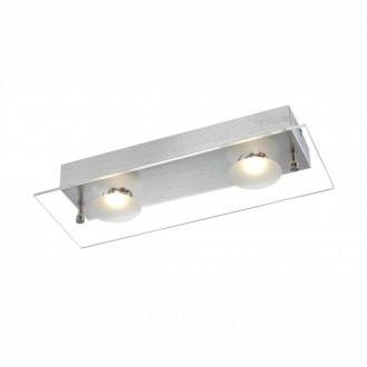 GLOBO 49200-2 | Berto Globo zidna svjetiljka 2x LED 664lm 3000K aluminij, prozirno, bijelo