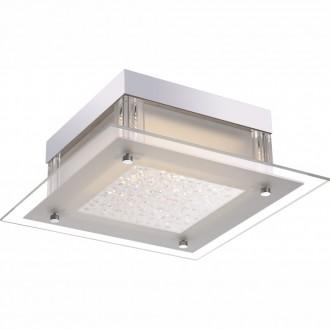 GLOBO 49310 | Leah Globo stropne svjetiljke svjetiljka 1x LED 1190lm 4000K krom, bijelo, prozirno