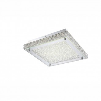 GLOBO 49333 | Curado Globo stropne svjetiljke svjetiljka 1x LED 1600lm 4000K krom, prozirno