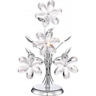 GLOBO 5136 | Juliana Globo stolna svjetiljka 37cm s prekidačem 1x E14 krom, prozirno