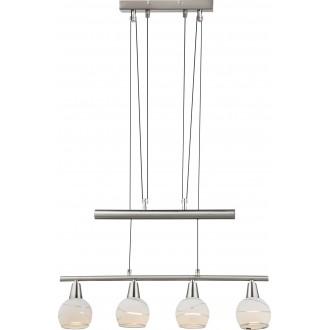 GLOBO 54341-4Z | Elliott Globo visilice svjetiljka balansna - ravnotežna, sa visinskim podešavanjem 4x E14 1600lm 3000K poniklano mat, krom, acidni