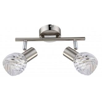 GLOBO 54344-2O | Boronia Globo spot svjetiljka elementi koji se mogu okretati 2x E14 krom, poniklano mat, prozirno