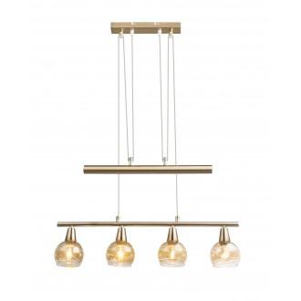 GLOBO 54346-4Z   Roman-Lara-Isla Globo visilice svjetiljka balansna - ravnotežna, sa visinskim podešavanjem 4x E14 1600lm 3000K antik zlato, dim