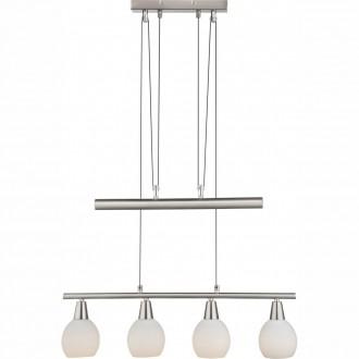 GLOBO 54351-4Z | Elliott Globo visilice svjetiljka balansna - ravnotežna, sa visinskim podešavanjem 4x E14 1600lm 3000K poniklano mat, bijelo