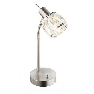 GLOBO 54356-1T | Kris-Indiana-Mero Globo stolna svjetiljka s prekidačem fleksibilna 1x E14 krom, poniklano mat, prozirno