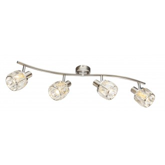 GLOBO 54356-4 | Kris-Indiana-Mero Globo spot svjetiljka elementi koji se mogu okretati 4x E14 krom, poniklano mat, prozirno