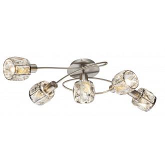 GLOBO 54356-5 | Kris-Indiana-Mero Globo stropne svjetiljke svjetiljka 5x E14 krom, poniklano mat, prozirno