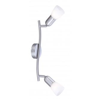GLOBO 5453-2 | CathyArni Globo spot svjetiljka 2x E14 poniklano mat, bijelo