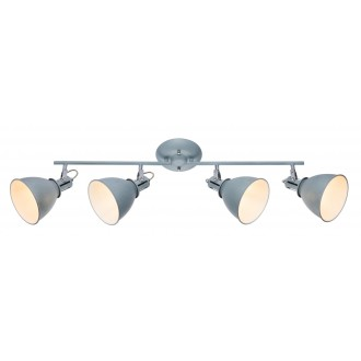GLOBO 54646-4 | Jonas-Giorgio Globo spot svjetiljka elementi koji se mogu okretati 4x E14 krom, beton, bijelo