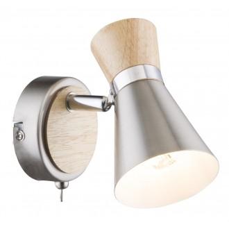 GLOBO 54807-1 | Aeron-Marei Globo spot svjetiljka s prekidačem elementi koji se mogu okretati 1x E14 rdža smeđe, antik zlato, mesing