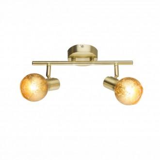GLOBO 54841-2 | Tigre-Zacate Globo zidna, stropne svjetiljke svjetiljka elementi koji se mogu okretati 2x E14 mat zlato, zlatno