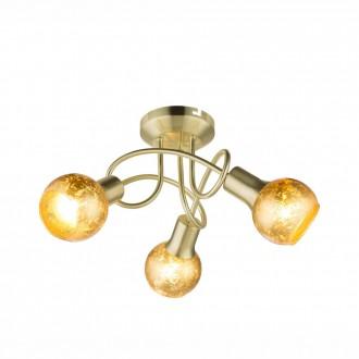 GLOBO 54841-3D | Tigre-Zacate Globo stropne svjetiljke svjetiljka 3x E14 mat zlato, zlatno