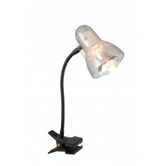GLOBO 54850 | Clip Globo svjetiljke sa štipaljkama svjetiljka s prekidačem fleksibilna 1x E14 crno, prozirna