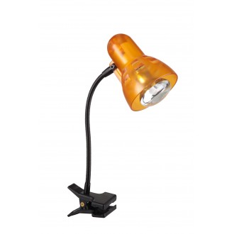 GLOBO 54852 | Clip Globo svjetiljke sa štipaljkama svjetiljka s prekidačem fleksibilna 1x E14 crno, narančasto