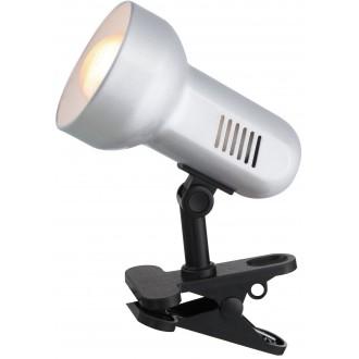 GLOBO 5497 | Basic-III Globo svjetiljke sa štipaljkama svjetiljka sa prekidačem na kablu 1x E27 crno, srebrno