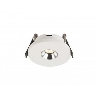 GLOBO 55010-1E | Christine-Timo Globo ugradbena svjetiljka Ø90mm 1x LED 378lm 3000K krom, bijelo