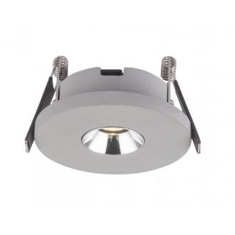 GLOBO 55011-1E | Christine-Timo Globo ugradbena svjetiljka Ø90mm 1x LED 378lm 3000K krom, sivo