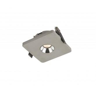 GLOBO 55011E | Christine-Timo Globo ugradbena svjetiljka 90x90mm 1x LED 378lm 3000K krom, sivo