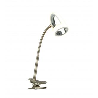 GLOBO 56006-1K | Rodrik Globo svjetiljke sa štipaljkama svjetiljka s prekidačem fleksibilna 1x LED 400lm 3000K krom, poniklano mat, saten