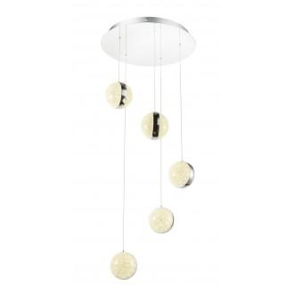 GLOBO 56007-5H | Tobias Globo visilice svjetiljka jačina svjetlosti se može podešavati 1x LED 5000lm 4000K krom, prozirna