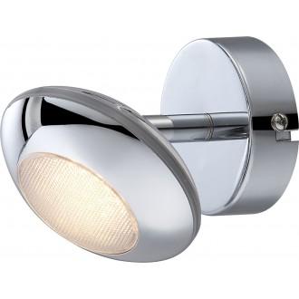 GLOBO 56217-1 | Gilles Globo spot svjetiljka elementi koji se mogu okretati 1x LED 350lm 3000K krom, opal