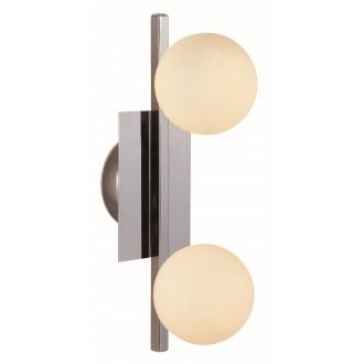 GLOBO 5663-2L | Cardiff Globo zidna, stropne svjetiljke svjetiljka 2x G9 560lm 3000K IP44 krom, opal