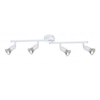 GLOBO 57381-4 | Olana-Oliwa Globo stropne svjetiljke svjetiljka elementi koji se mogu okretati 4x GU10 bijelo