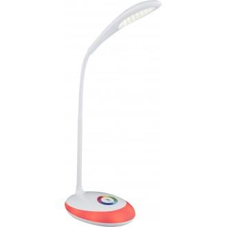 GLOBO 58264 | Minea Globo stolna svjetiljka sa tiristorski dodirnim prekidačem jačina svjetlosti se može podešavati, promjenjive boje, fleksibilna, USB utikač 1x LED 230lm + 1x LED 5000K bijelo